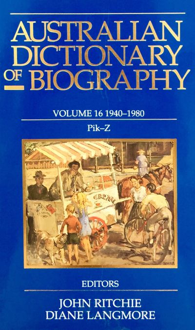 Australian Dictionary of Biography V16