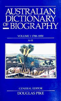 Australian Dictionary of Biography V1