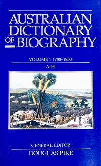 Australian Dictionary of Biography V1