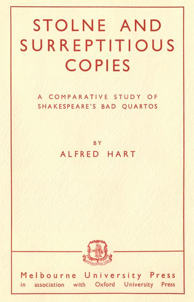 Stolne and Surreptitious Copies