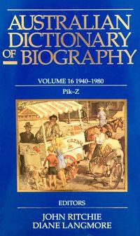 Australian Dictionary of Biography V16